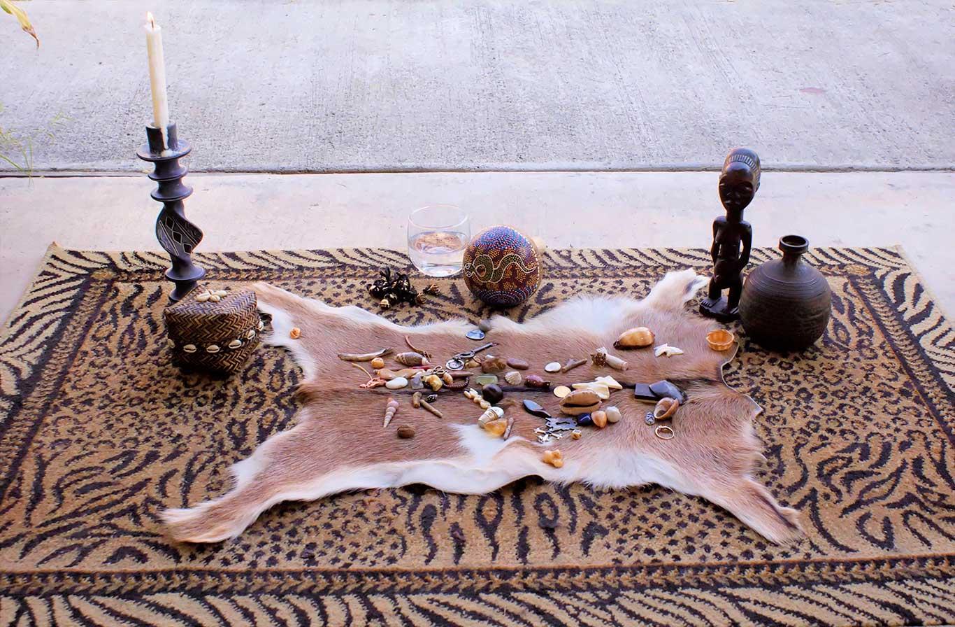 bone-set-on-tiger-rug