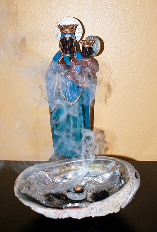 abalone incense burner