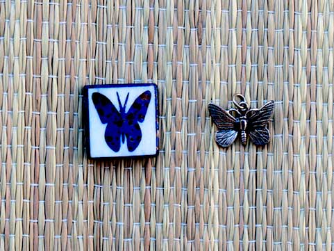 Butterfly bead and pendant