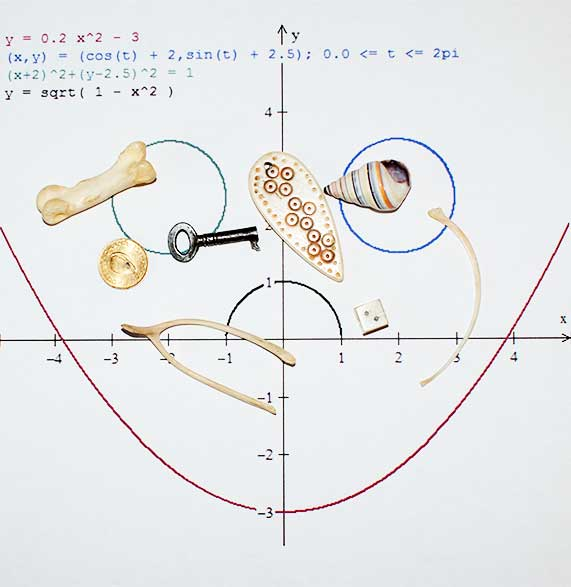 Mathematical formula with bones