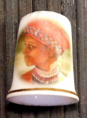 Thimble with Woman