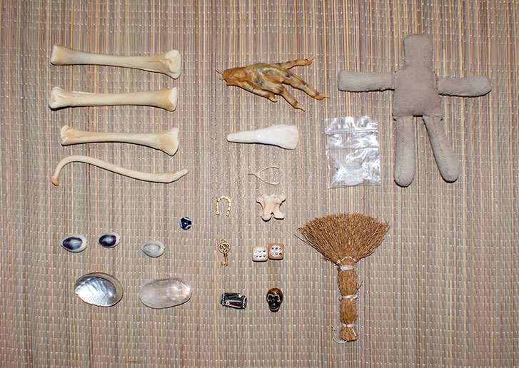 Ritual Witch Bone Reading Set Pieces