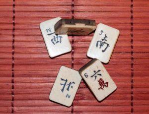 mahong piece for bone divination