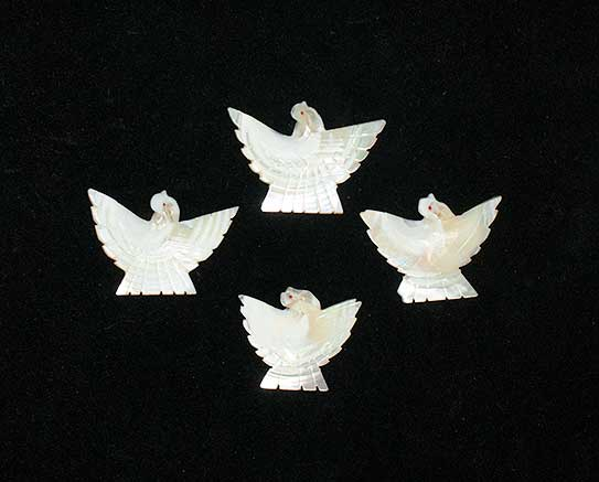 Mother of Pearl Birds used in bone divination