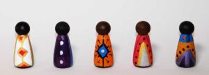 painted wooden dolls
